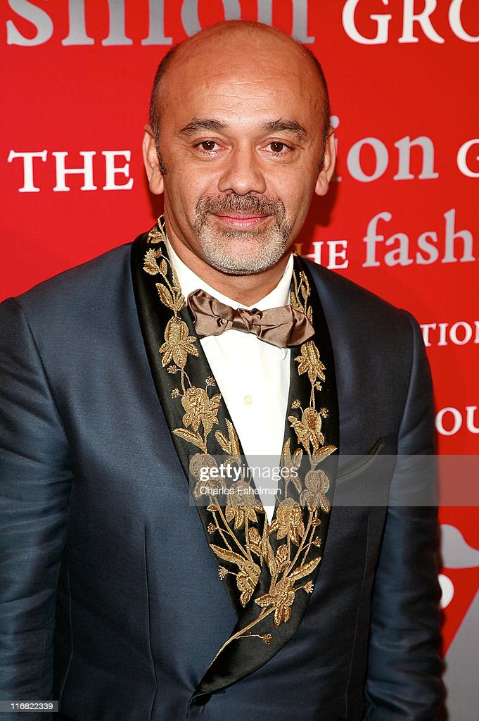 Shoe designer <a gi-track='captionPersonalityLinkClicked' href=/galleries/search?phrase=Christian+Louboutin+-+Fashion+Designer&family=editorial&specificpeople=4644509 ng-click='$event.stopPropagation()'>Christian Louboutin</a> attends the 25th annual Night of Stars hosted by Fashion Group International at Cipriani Wall Street on October 23, 2008 in New York City.