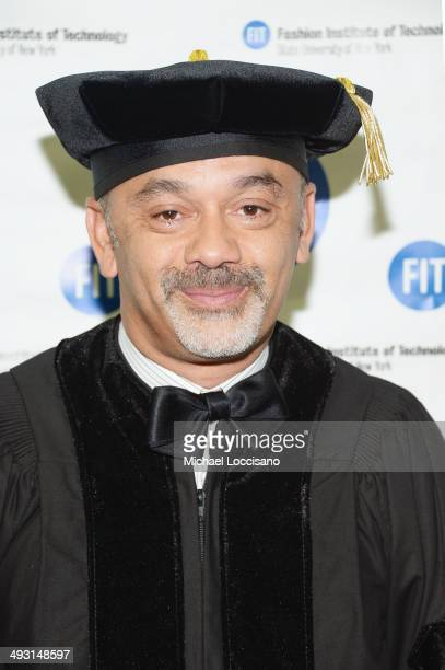 Shoe designer Christian Louboutin attends the Fashion Institute of Technology's 69th Commencement at Javits Center on May 22 2014 in New York City