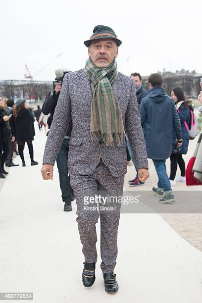 Shoe designer Christian Louboutin on day 8 of Paris Collections Women on March 10 2015 in Paris France