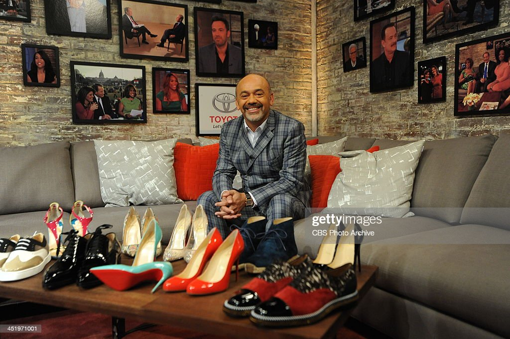 Shoe designer Christian Louboutin visits CBS This Morning on Thursday Nov 21 2013 on the CBS Television Network