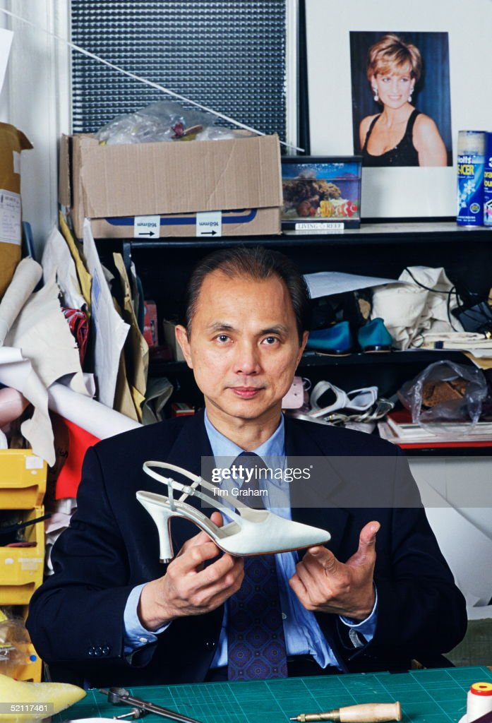 Shoe Designer Jimmy Choo In His Studio In London