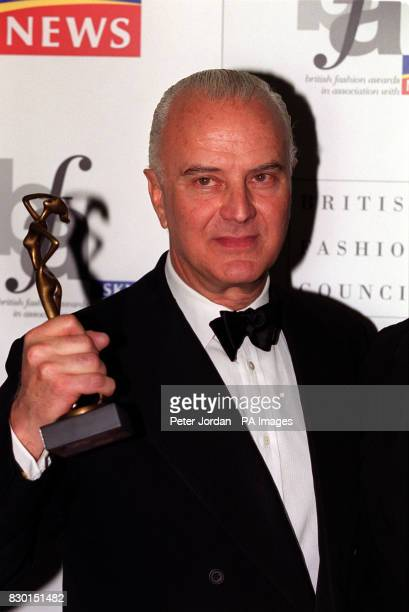 Shoe designer Manolo Blahnik at the British Fashion Awards at the Natural History Museum in London * 8/9/02 Manolo Blahnik who is is being honoured...