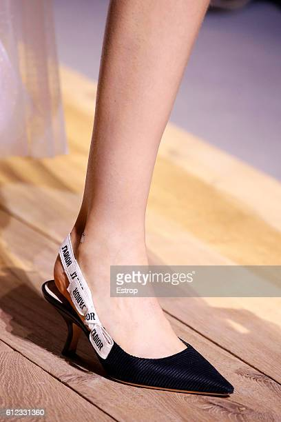 Shoe detail at the Christian Dior show as part of the Paris Fashion Week Womenswear Spring/Summer 2017 on September 30 2016 in Paris France