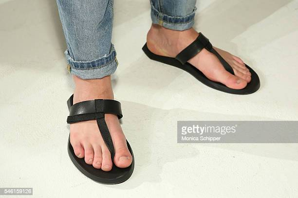 Shoe detail at the David Naman Presentation during New York Fashion Week Men's S/S 2017 at Industria Superstudio on July 11 2016 in New York City