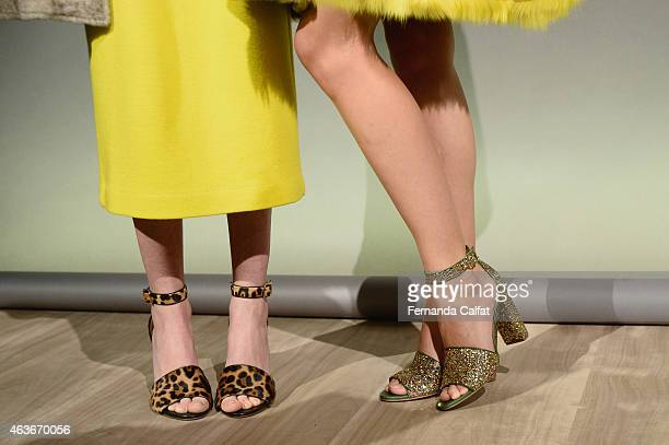 A shoe detail at the JCrew presentation during MercedesBenz Fashion Week Fall 2015 at The Pavilion at Lincoln Center on February 17 2015 in New York...