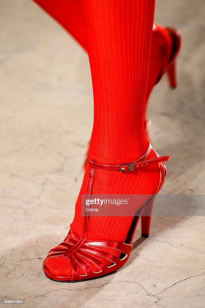 A Shoe detail at the Missoni show during Milan Fashion Week Fall/Winter 2017/18 on February 25, 2017 in Milan, Italy.