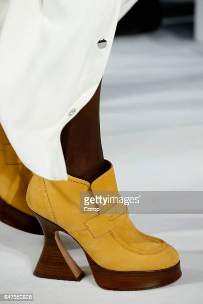 Shoe detail at the Sies Marjan show during the New York Fashion Week February 2017 collections on February 12 2017 in New York City