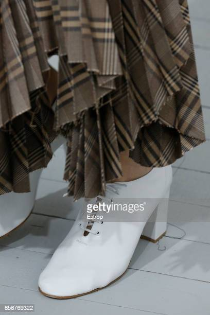 Shoe Detail during the Celine show as part of the Paris Fashion Week Womenswear Spring/Summer 2018 on October 1 2017 in Paris France