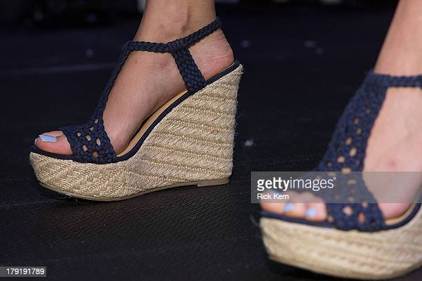 Shoe detail is seen as a model walks the runway during the Target Fall Fashion Runway Show at the Festival People en Español Presented by Target at...