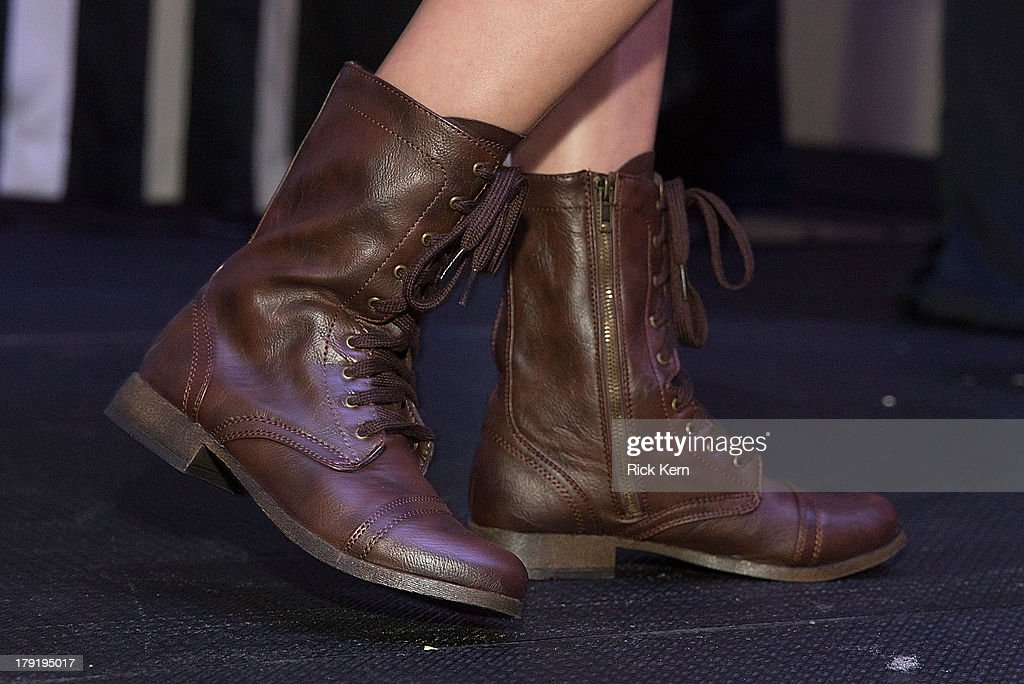 Shoe detail is seen as a model walks the runway during the Target Fall Fashion Runway Show at the Festival People en Español Presented by Target at the Henry B. Gonzalez Convention Center on August 31, 2013 in San Antonio, Texas.
