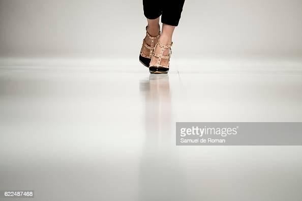 A shoe detail is seen during the runway at the Paul Hewitt show during pasarela de la moda de castilla y leon 2016 at MEH november 8 2016 in Burgos...