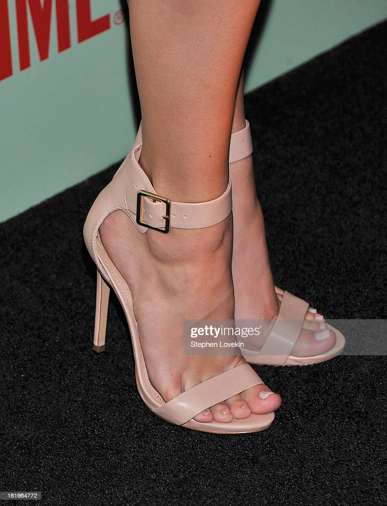 Shoe detail of actress Helene York as she attends The 'Masters Of Sex' New York Series Premiere at The Morgan Library & Museum on September 26, 2013 in New York City.