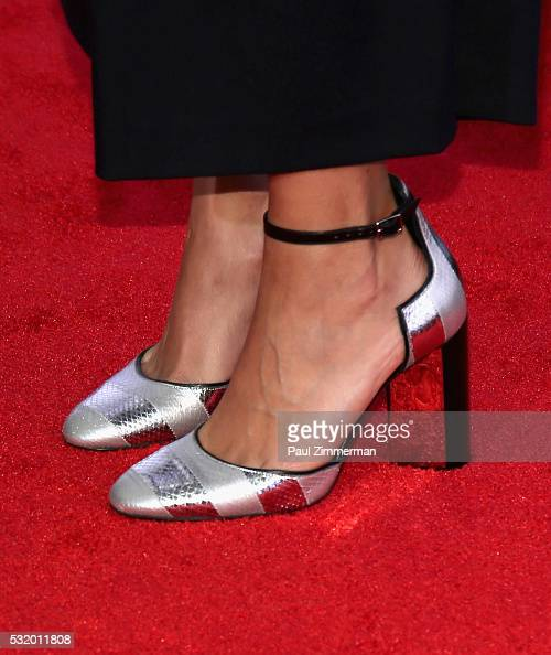Shoe detail of actress Rashida Jones at TBS Night Out at The New Museum on May 17 2016 in New York City