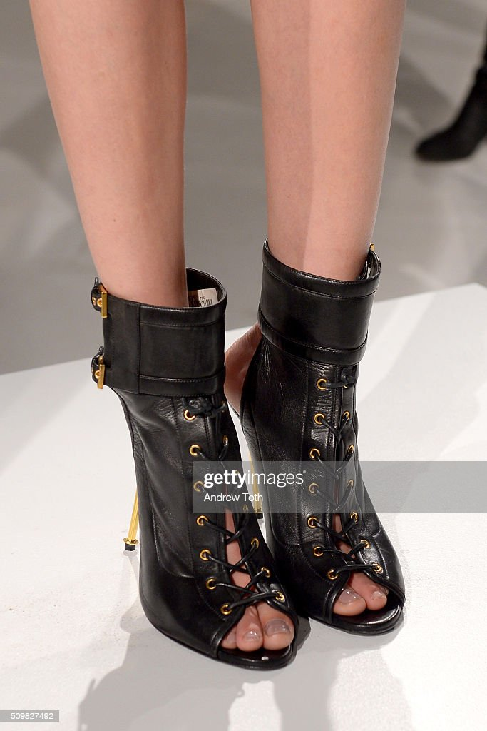 A shoe detail of O'2nd Fall 2016 during New York Fashion Week: The Shows at The Space, Skylight at Clarkson Sq on February 12, 2016 in New York City.