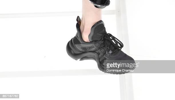 Shoe detail on the runway during the Louis Vuitton show as part of the Paris Fashion Week Womenswear Spring/Summer 2018 on October 3 2017 in Paris...