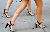 Shoe detail outside the Duckie Brown show on September 6 2013 in New York City