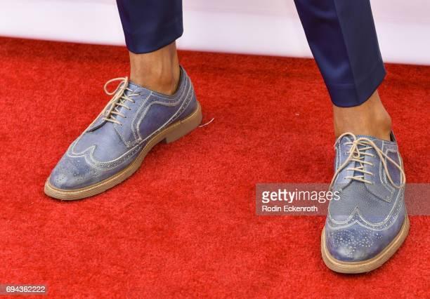 Shoe fashion detail actor Jeffrey BowyerChapman attends 'RuPaul's Drag Race' Season 9 Finale Taping at Alex Theatre on June 9 2017 in Glendale...