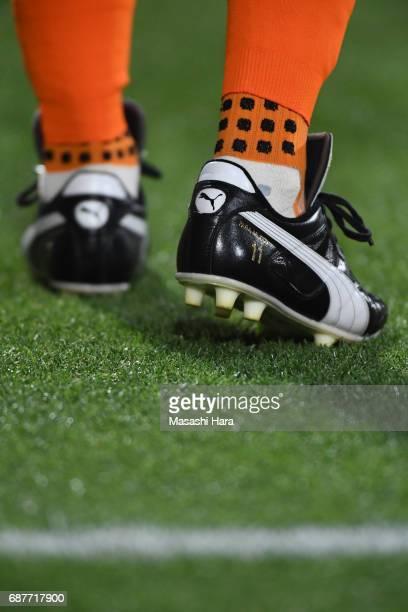 Shoe of Ryuji Bando prior to the JLeague Levain Cup Group A match between Omiya Ardija and Shimizu SPulse at NACK 5 Stadium Omiya on May 24 2017 in...