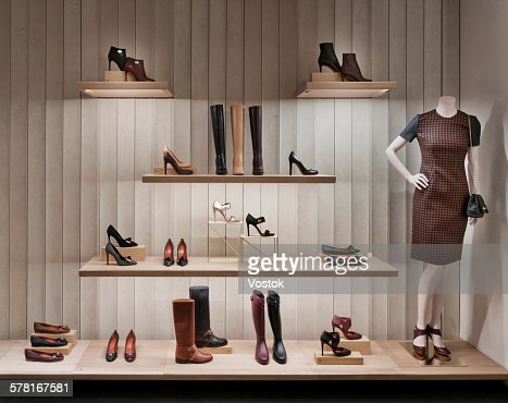 Shoe shelve in luxury boutique