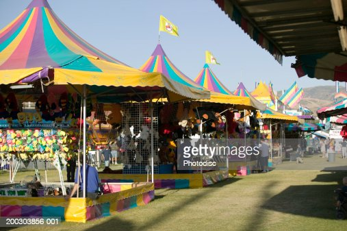 Shoe tents in amusement park : Stock-Foto