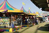 Shoe tents in amusement park