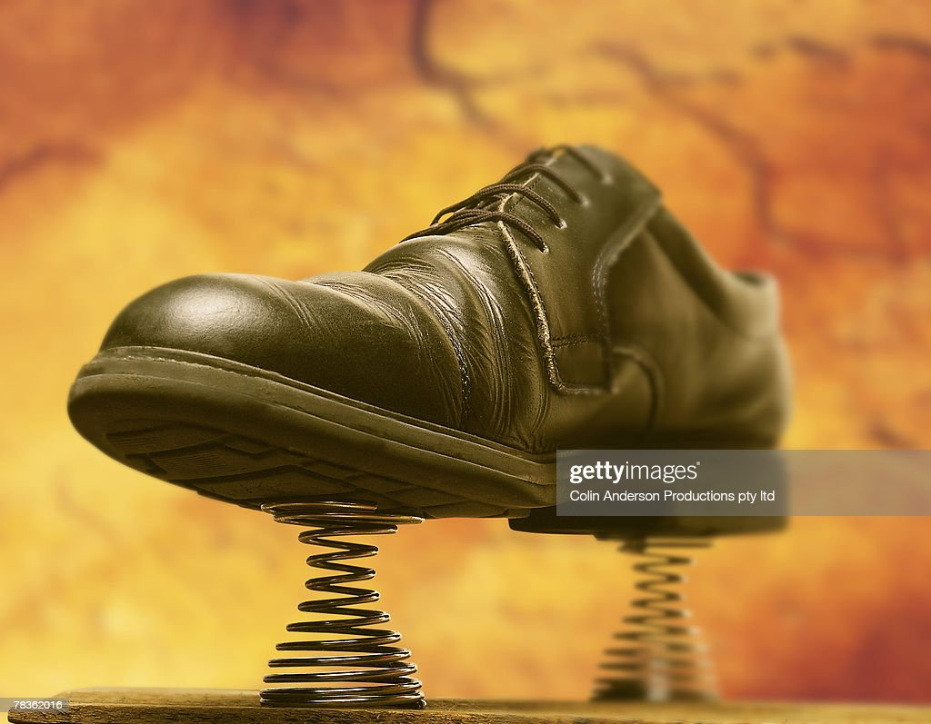 Shoe with springs : Stock Photo