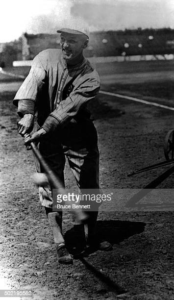 'Shoeless' Joe Jackson of the Chicago White Sox poses for an action portrait circa 1919 at Comiskey Park in Chicago Illinois