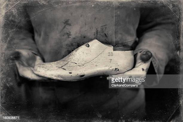 Shoemaker or Cobbler With His Tools of the Trade