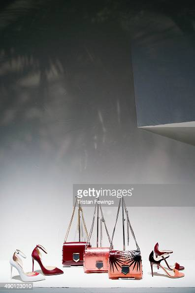 Shoes and Bags are presented at the Jimmy Choo presentation as part of Milan Fashion Week Spring/Summer 2016 on September 26 2015 in Milan Italy