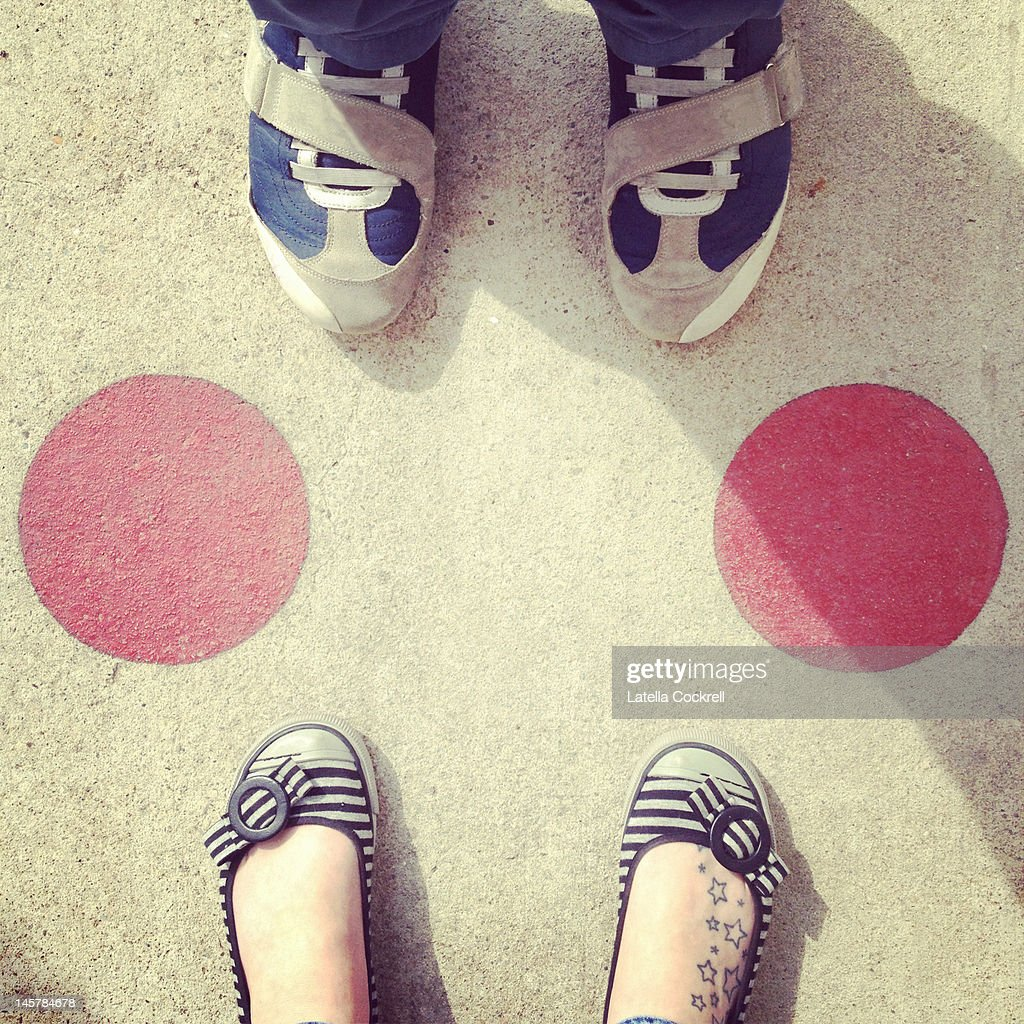 Shoes and circles