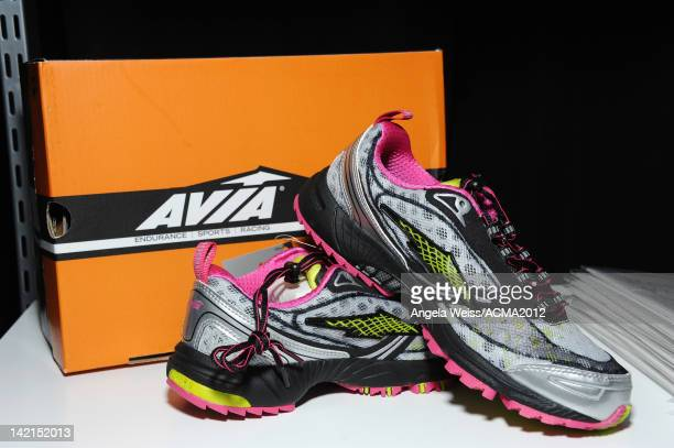 AVIA shoes are displayed at the Gift Lounge for the 47th Annual Academy Of Country Music Awards held at the MGM Grand Hotel/Casino on March 30 2012...