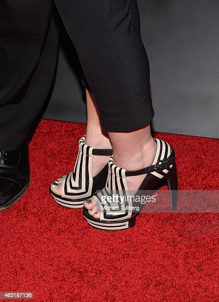 Shoes belonging to actress LeighAllyn Baker at the Los Angeles premiere of the Disney Channel Original Movie 'Bad Hair Day' at Walt Disney Studios on...