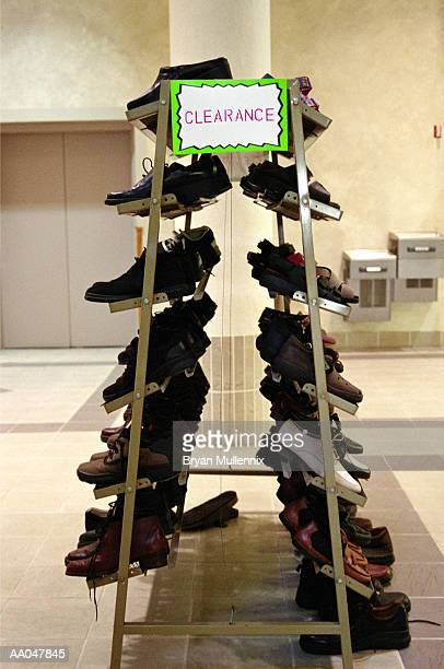Shoes clearance rack in store