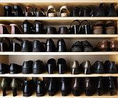 Shoes Closet Organization with Rack Shelf Storage Compartment