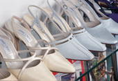 Shoes Designed By Jimmy Choo On A Rack In His Showroom Princess Diana Had Identical Pairs