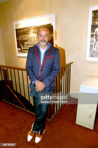 Shoes designer Christian Louboutin attends 'Renate Graf Carnet De Voyage' Photographies Exhibition opening party held at Galerie du Passage on April...