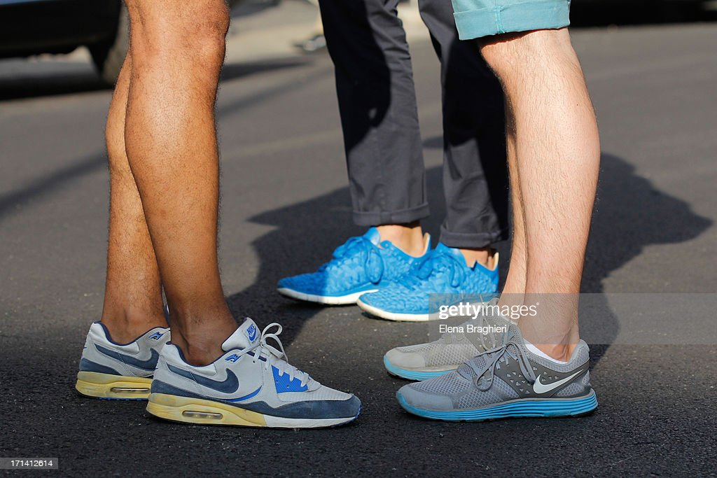 Shoes detail at Milan Fashion Week Menswear Spring/Summer 2014 on June 23, 2013 in Milan, Italy