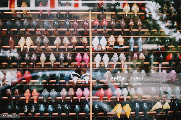 Shoes Displayed At Store For Sale