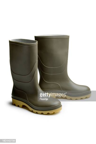 Shoes: Green Rubber Boots
