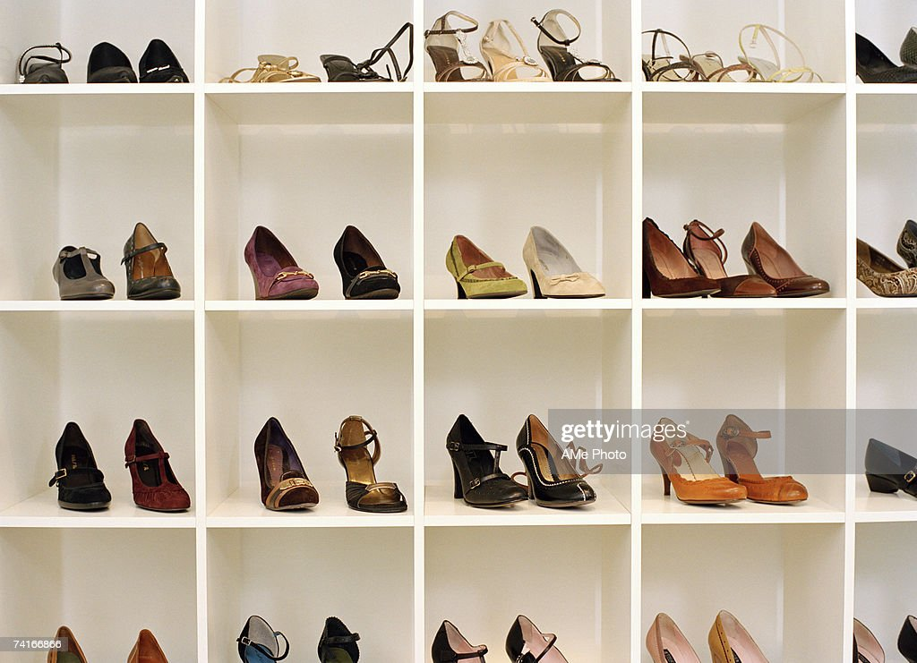 Shoes in a shoe store.