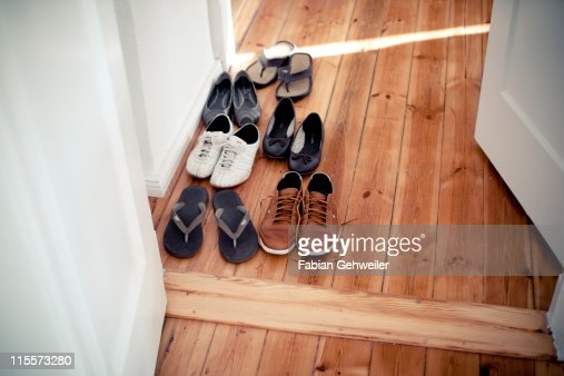 Shoes in hallway : Stock Photo