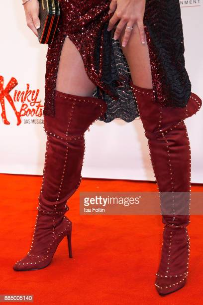 Shoes of German actress Yvonne Woelke as a detail during the 'Kinky Boots' Musical Premiere at Stage Operettenhaus on December 3 2017 in Hamburg...