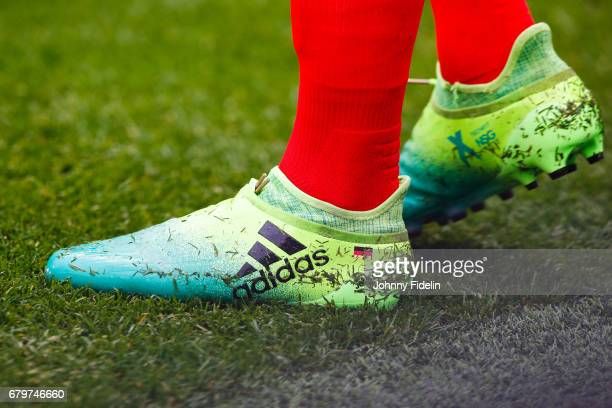 Shoes of Julian Draxler of Paris Saint Germain during the French Ligue 1 match between Paris Saint Germain and Bastia at Parc des Princes on May 6...