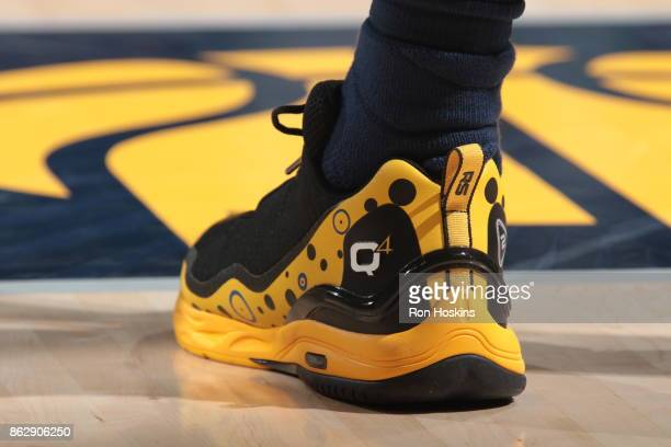 Shoes of Lance Stephenson of the Indiana Pacers during the season game against the Brooklyn Nets on October 18 2017 at Bankers Life Fieldhouse in...