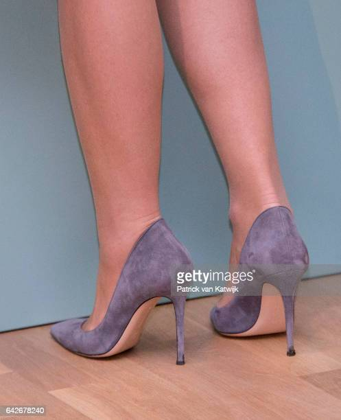 Shoes of Queen Maxima of The Netherlands who opens the exhibition Royal Paradise Aert Schulman and the imagination of nature in the Dordrechts Museum...
