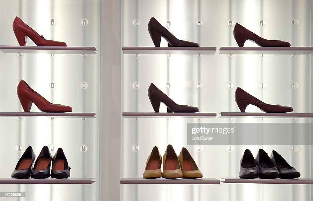 Shoes on display