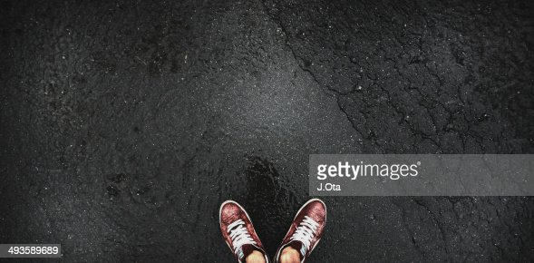 Shoes on the street : Stock Photo