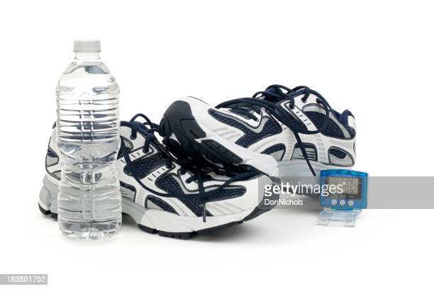 Shoes Pedometer and Water Bottle