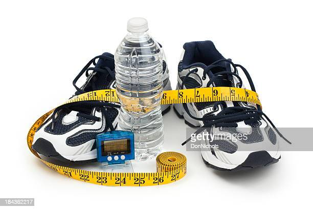 Shoes, Pedometer, and Water Bottle