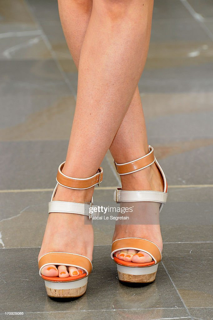 Shoes worn by Anastasia Griffith at a photocall during the 53rd Monte Carlo TV Festival on June 10, 2013 in Monte-Carlo, Monaco.